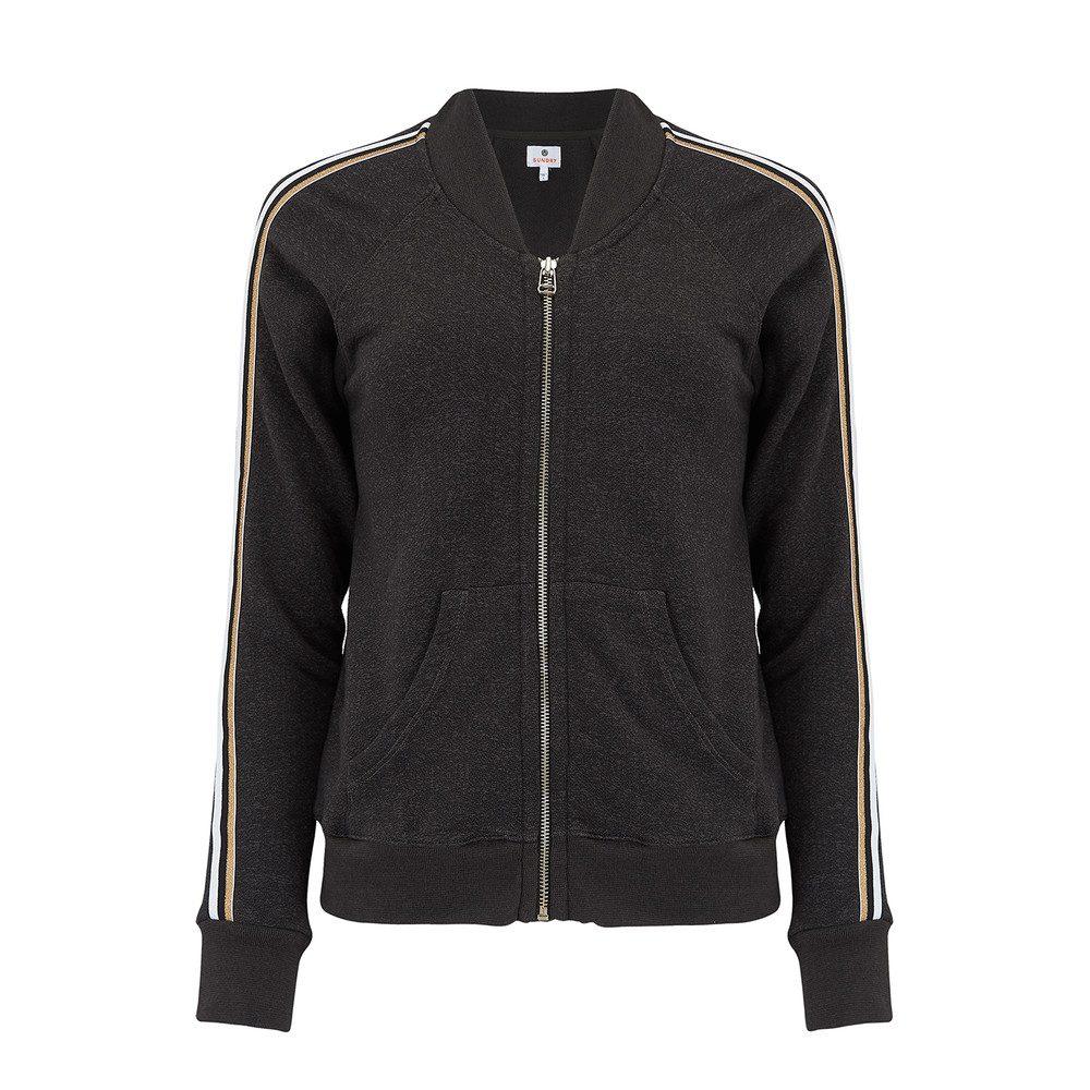 Track Jacket with Side Trim - Black