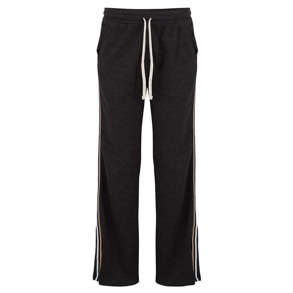 Stripe Trim Track Pants - Black