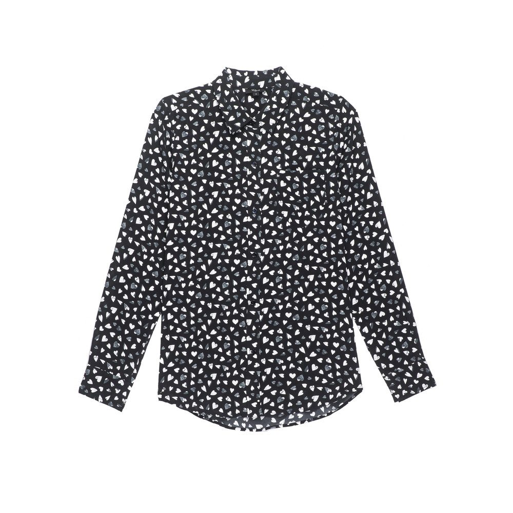 Kate Silk Shirt - Black Corazon