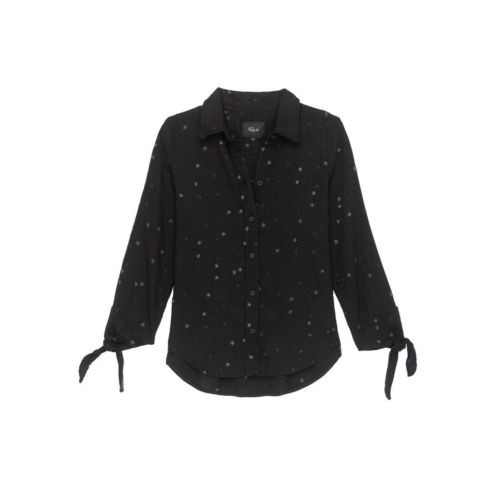 Robyn Star Shirt - Black