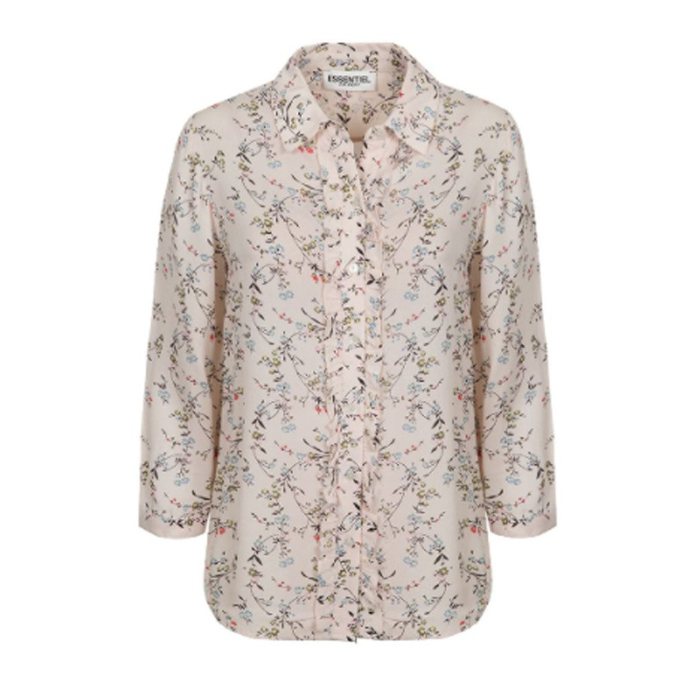 Pia 3/4 Length Sleeve Floral Shirt - Off White
