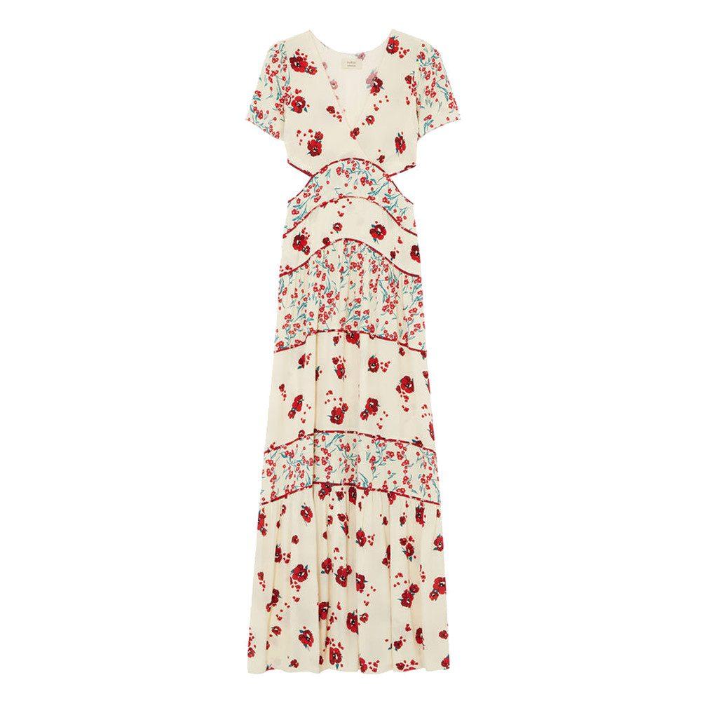 Blush Floral Maxi Dress - Ecru
