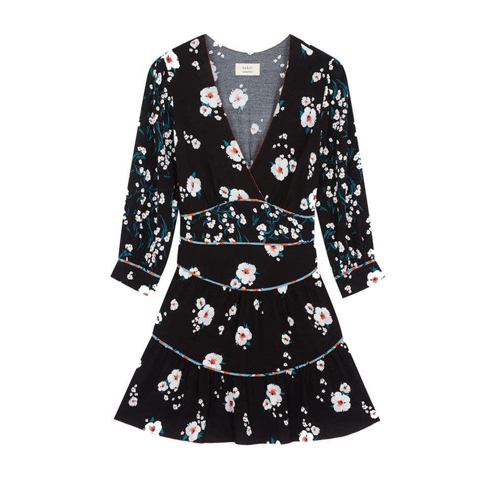 Belize Floral Dress - Black