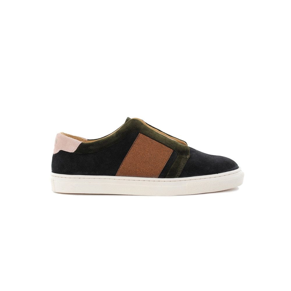 Crump Low Top Trainers - Moss