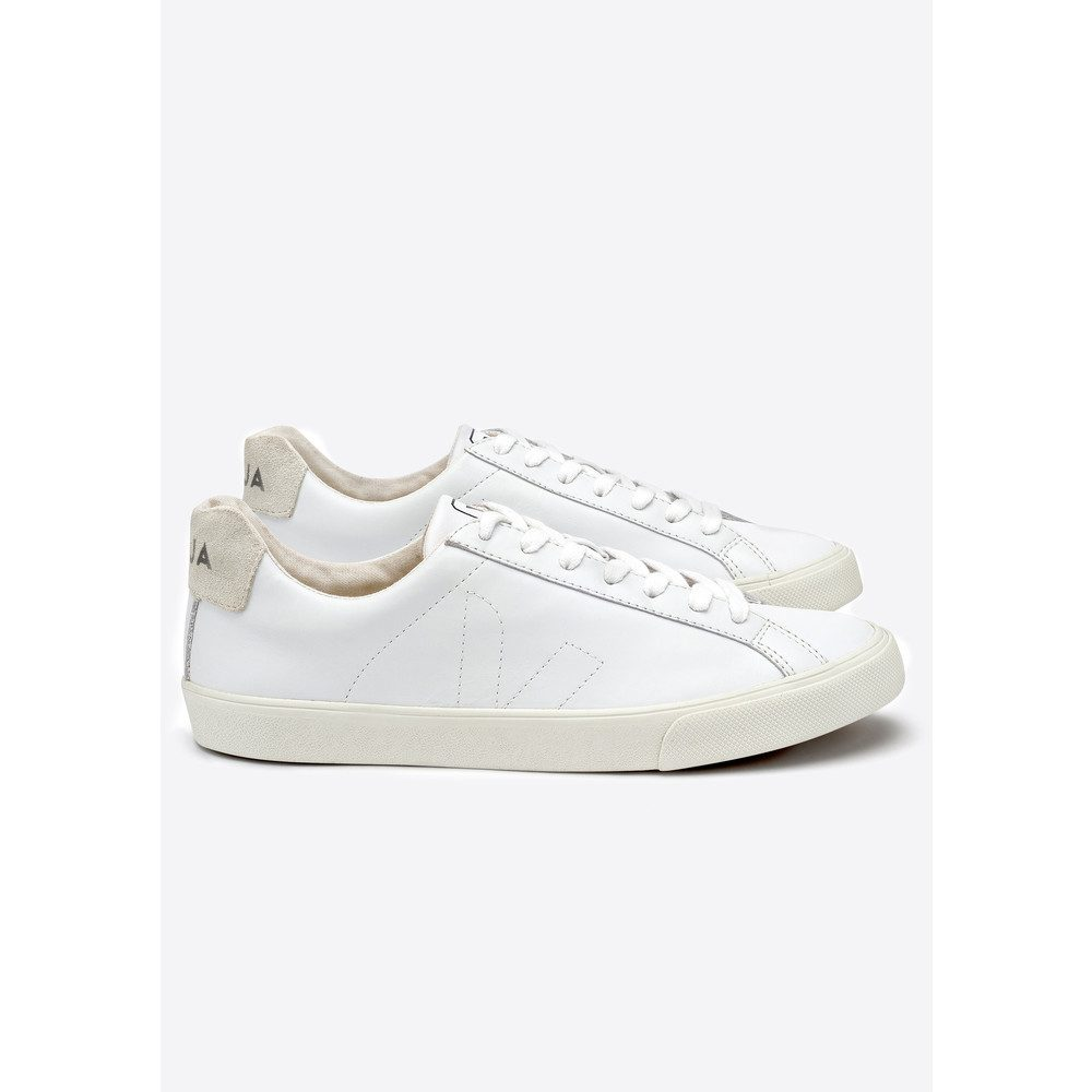 Espar Leather Trainers - Extra White