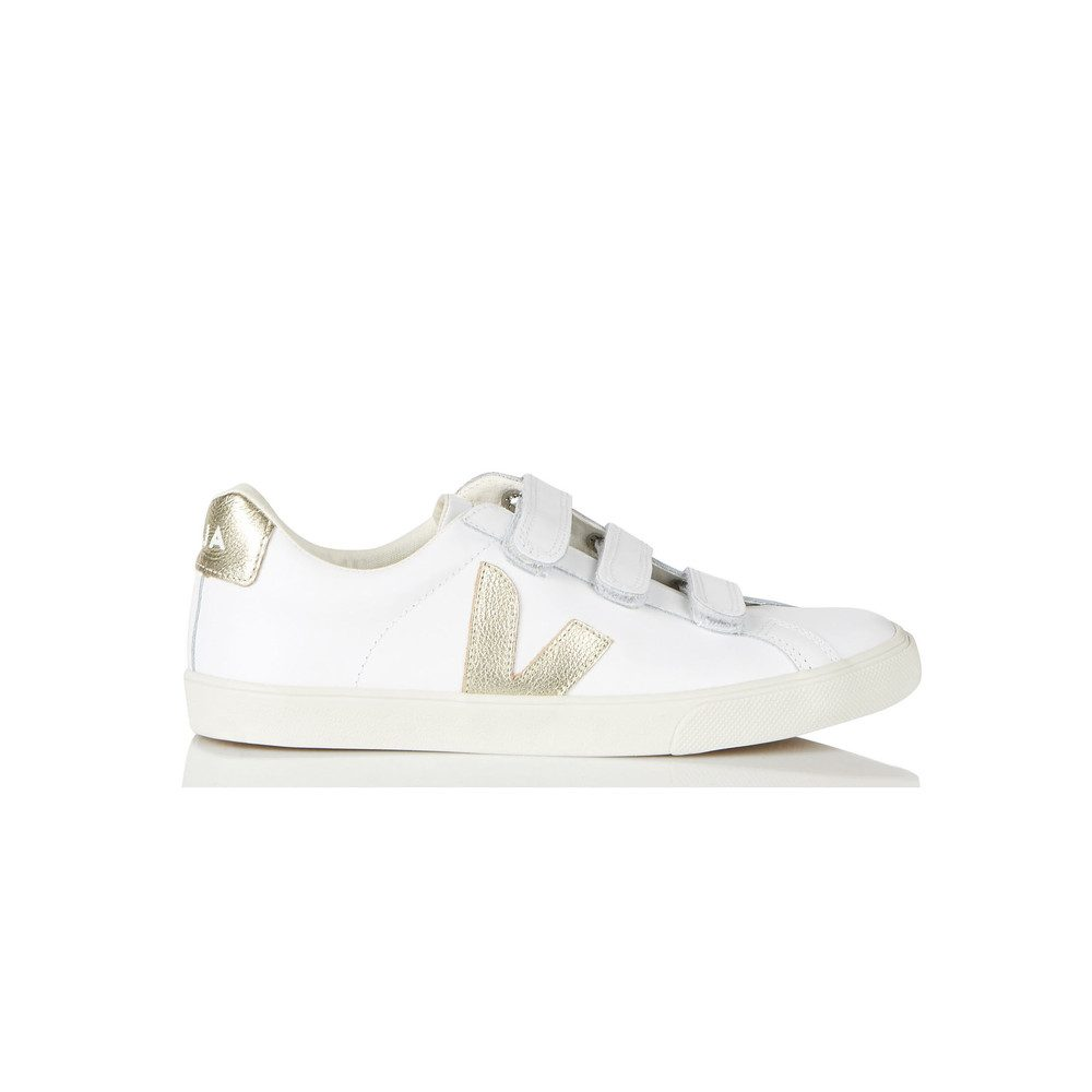 Esplar 3 Lock Leather Trainers - Extra White