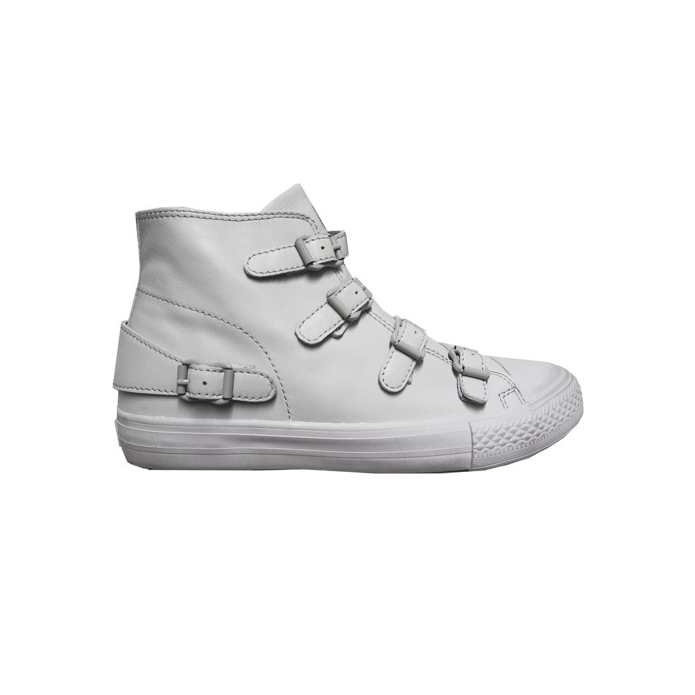 Venus Buckle Trainers - Pearl