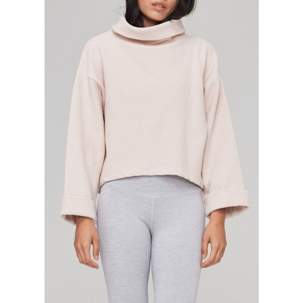Whittier Ribbed Sweatshirt - Rose