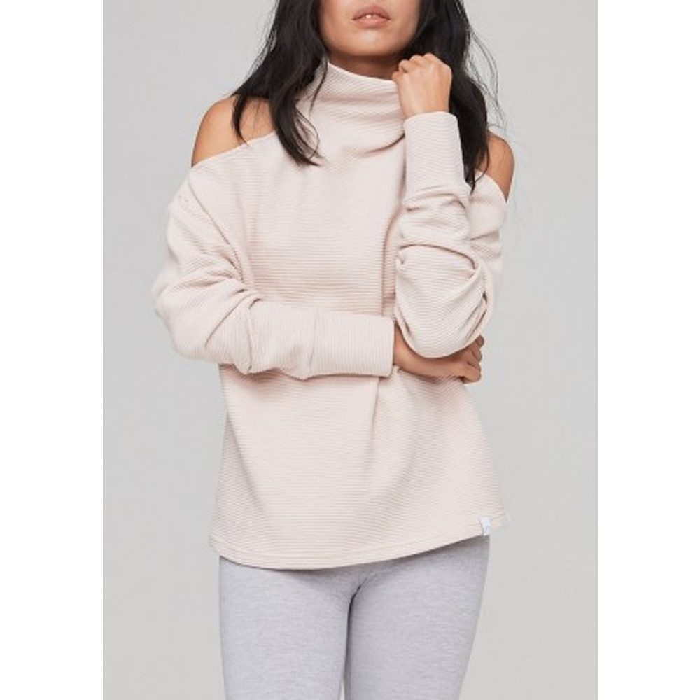 Hampton Ribbed Sweatshirt - Rose