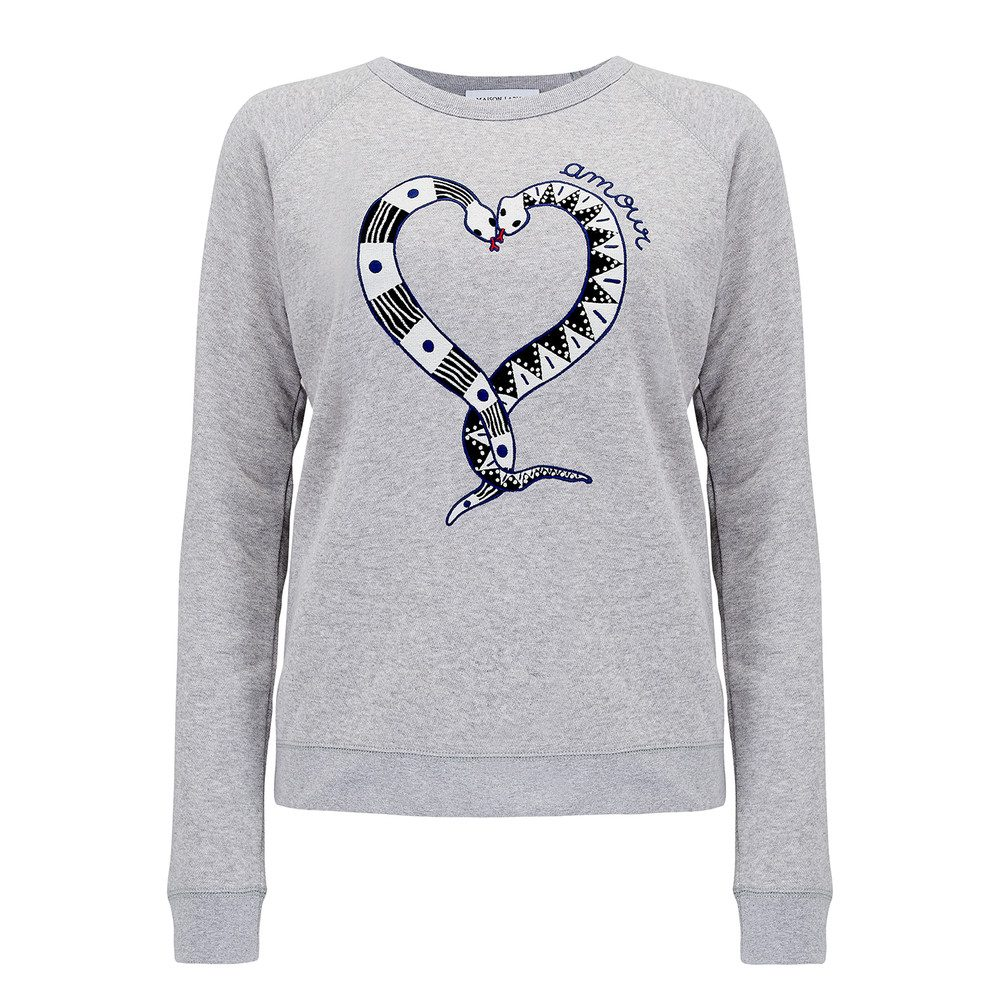 Snake Love Sweater - Heather Grey