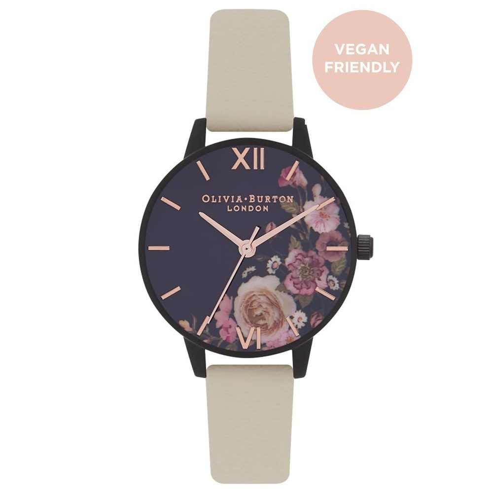 Vegan Friendly After Dark Watch - Nude & Matte Black