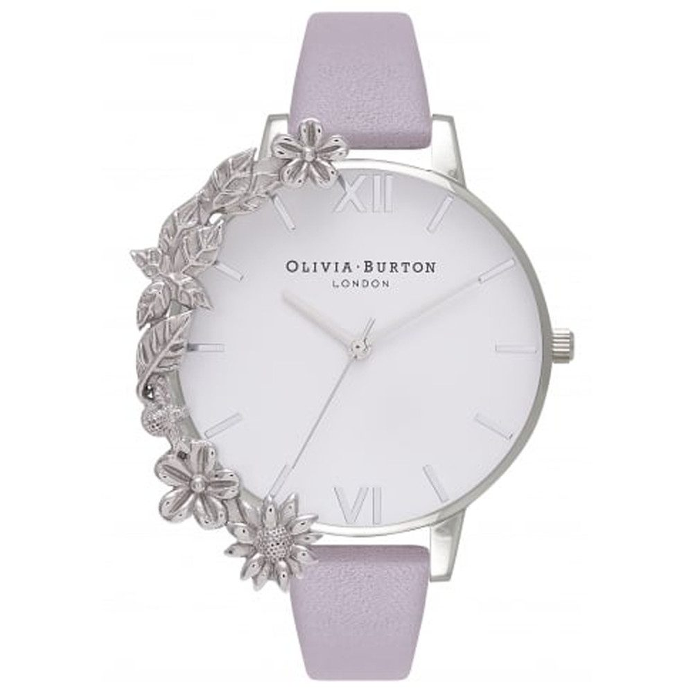 Case Cuff Watch - Grey Lilac & Silver