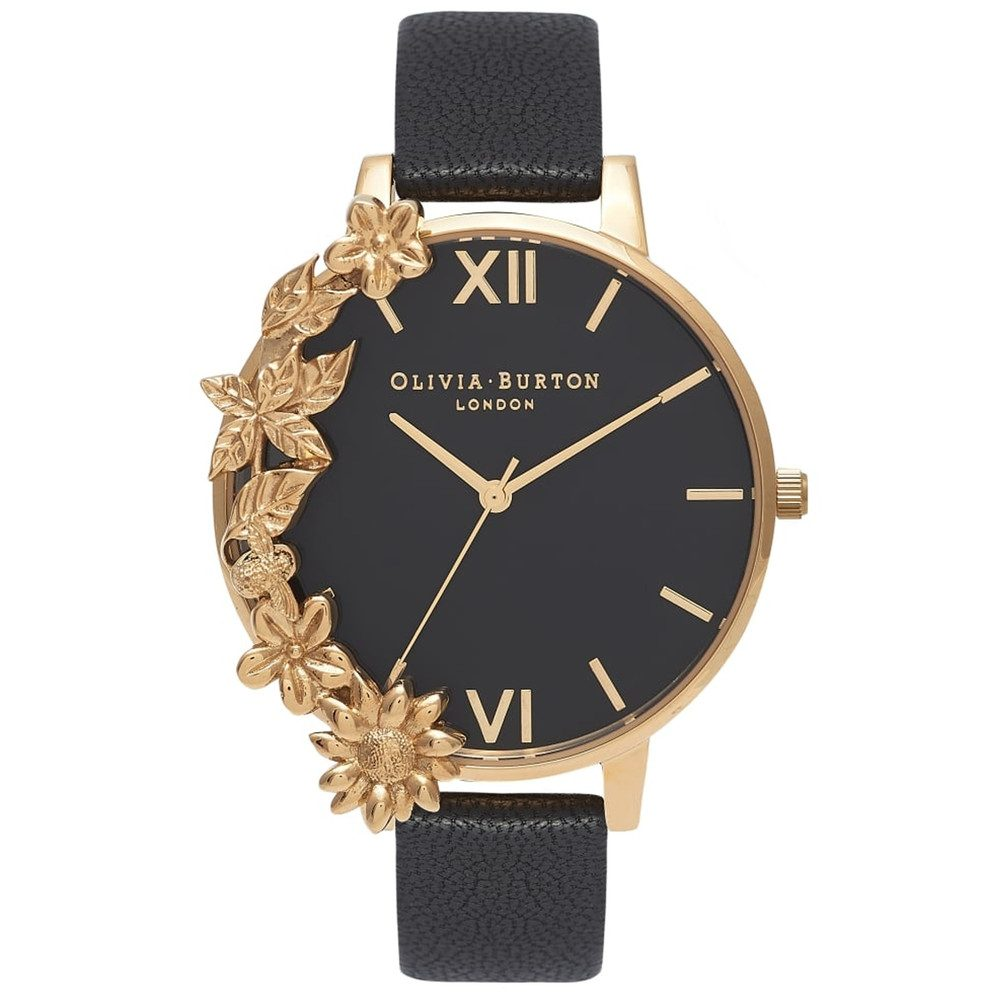 Case Cuff Watch - Black & Gold