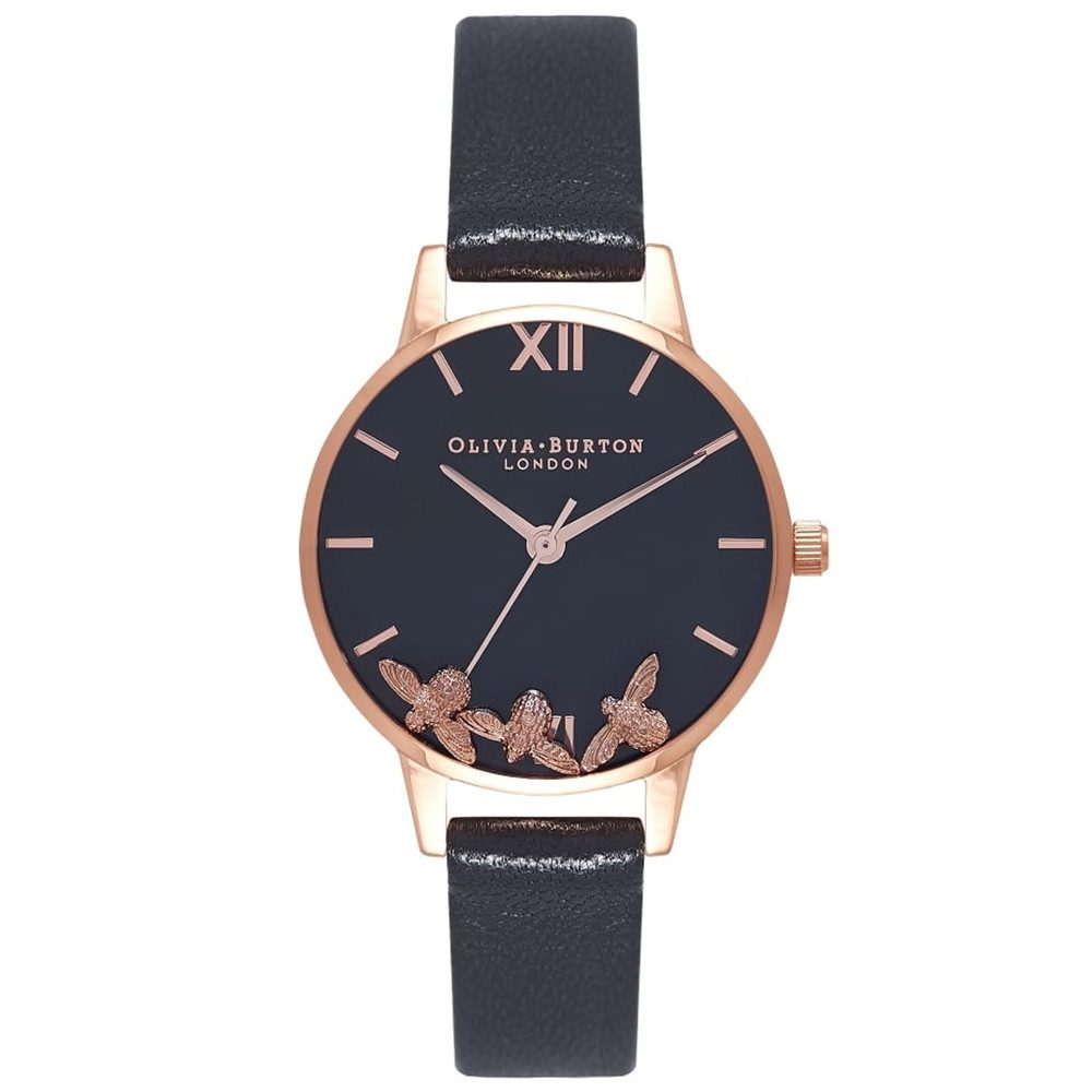 Busy Bee's Watch - Black & Rose Gold