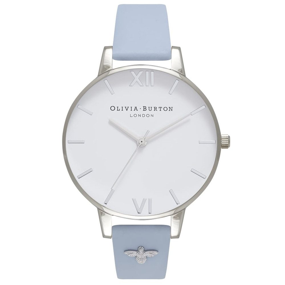 Embellished Strap Watch - Chalk Blue & Silver