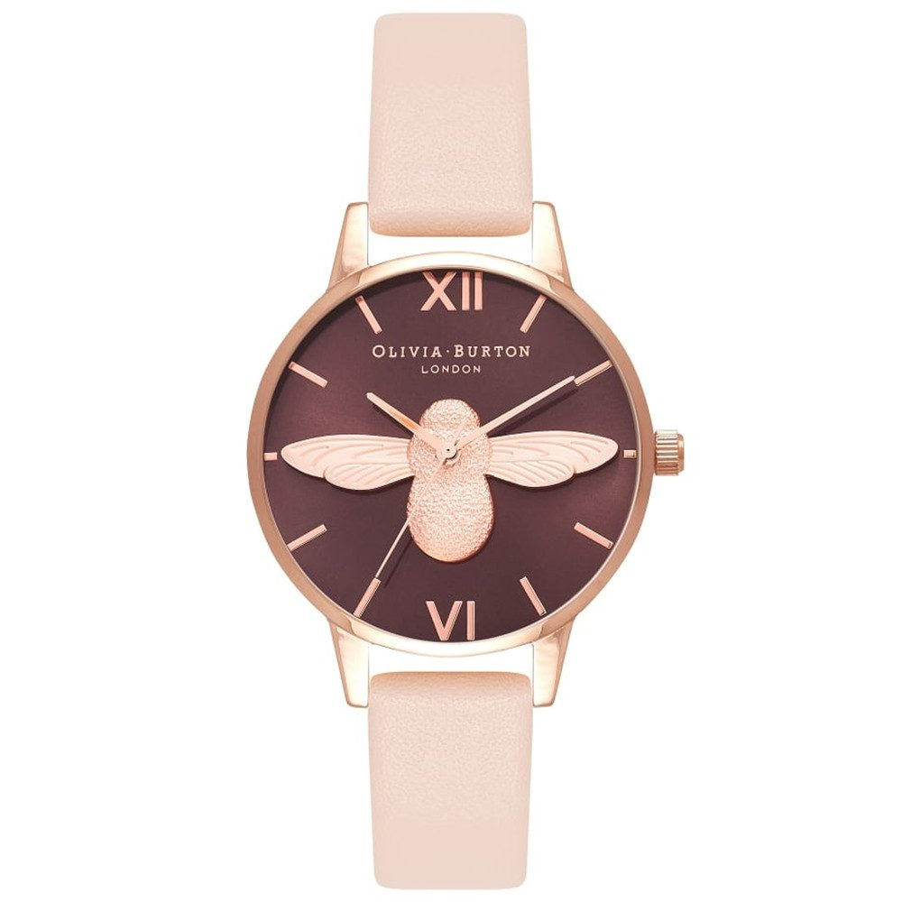 Midi 3D Bee Watch - Nude Peach & Rose Gold