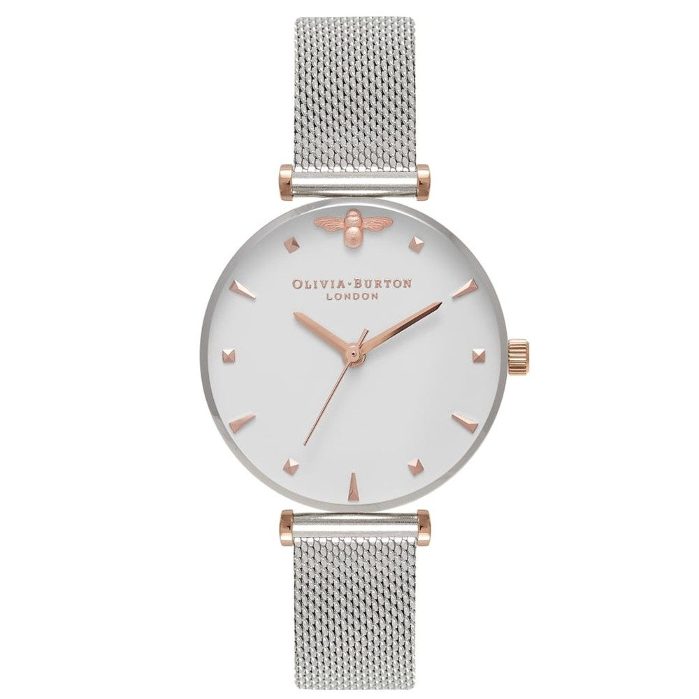 Queen Bee Mesh Watch - Rose Gold & Silver