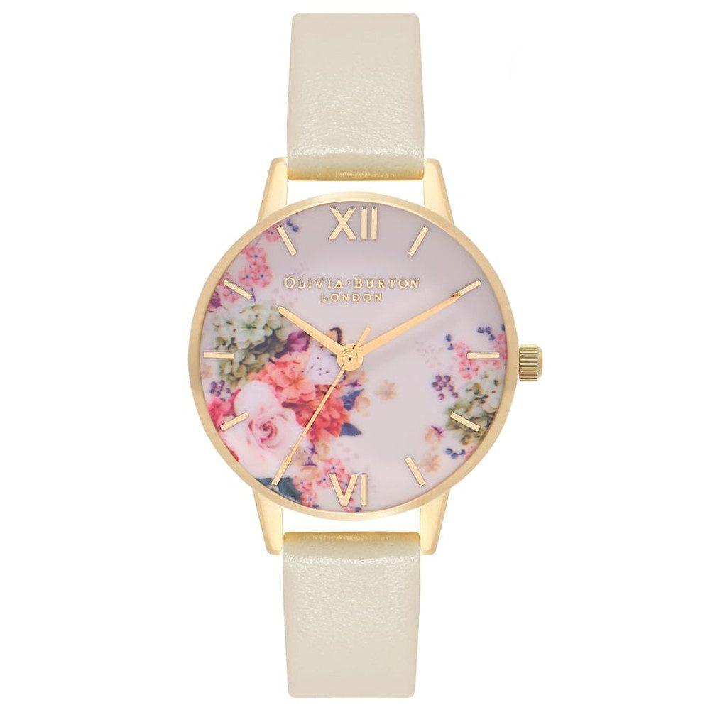Enchanted Garden Midi Dial Watch - Nude & Gold