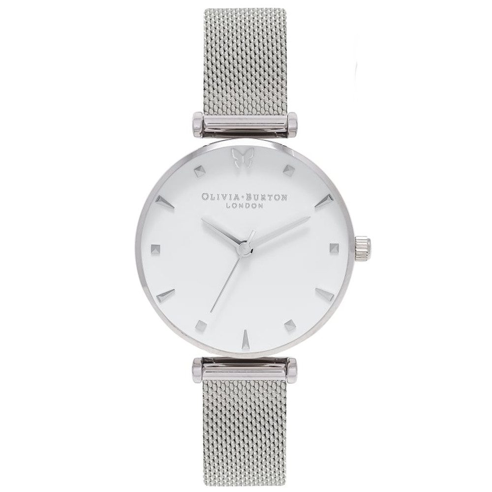Social Butterfly Mesh Watch - Silver