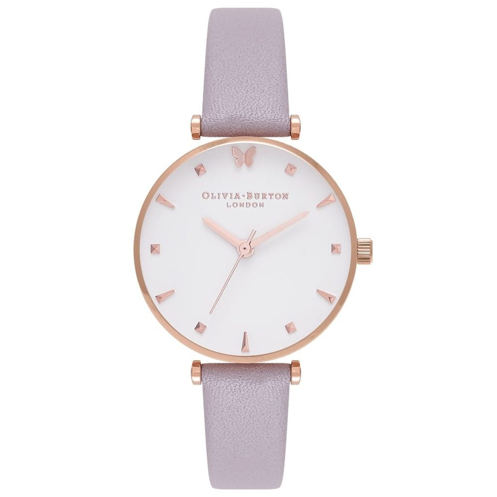 Social Butterfly Watch - Grey Lilac & Rose Gold
