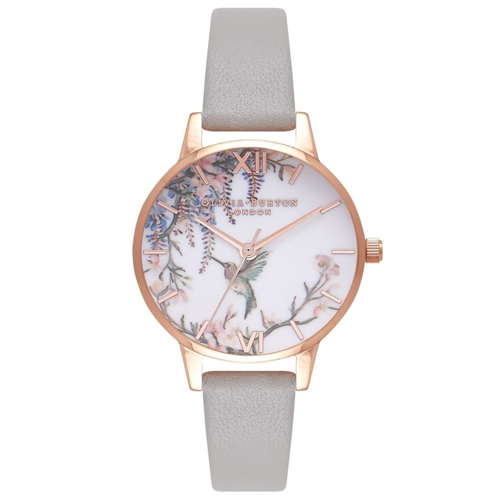 Painterly Prints Watch - Grey & Rose Gold