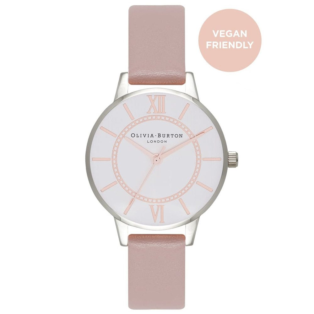 Vegan Friendly Wonderland Watch - Rose Sand & Silver