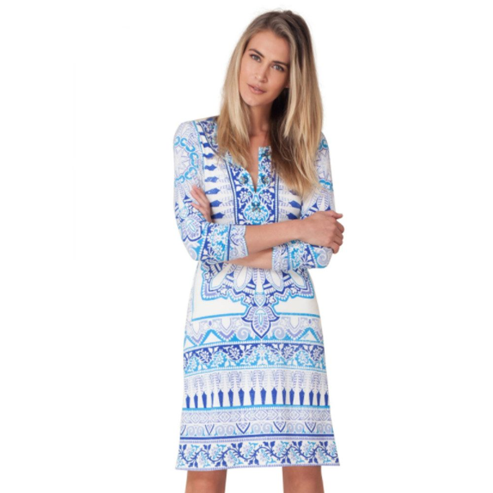Marah Beaded Dress - Blue