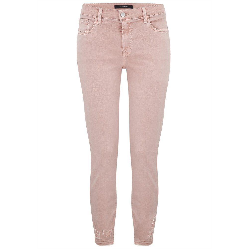 835 Mid Rise Capri Skinny Jeans - Vinca Destruct