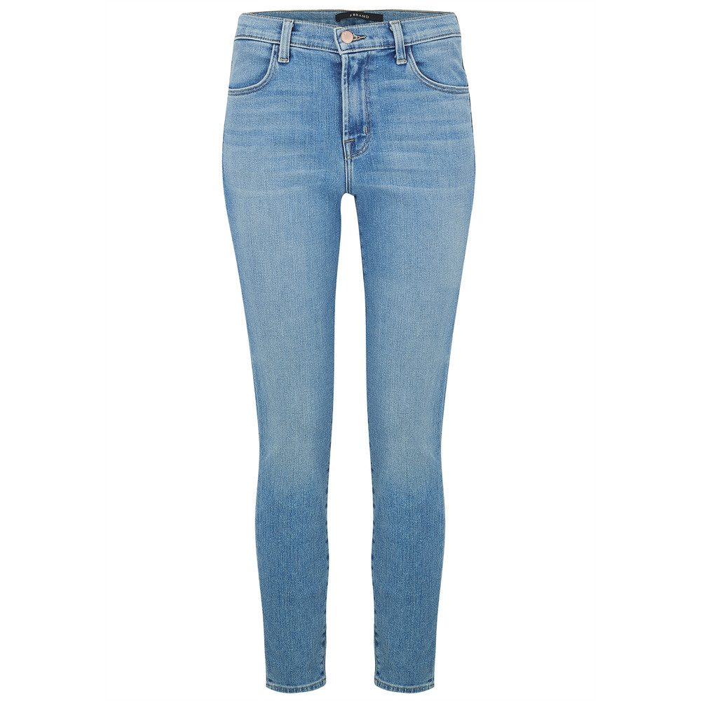 Alana High Rise Crop Skinny Jeans - Surge