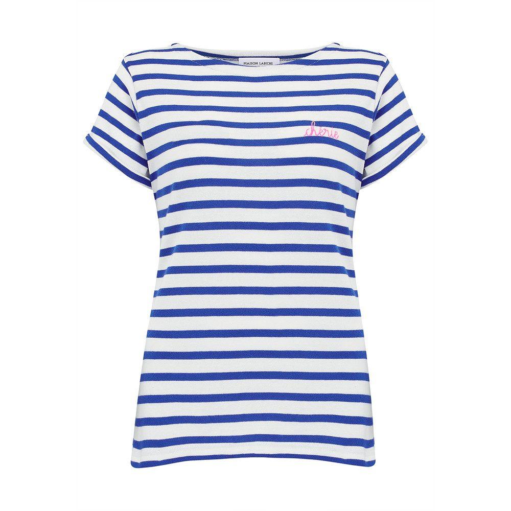 Sailor Short Sleeve Cherie Tee - White & Blue