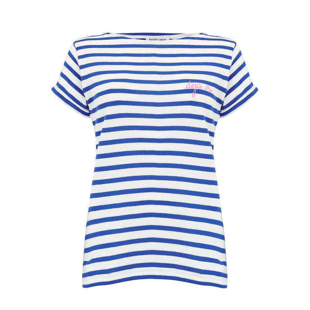 Sailor Short Sleeve Deja Vu Tee - White & Blue