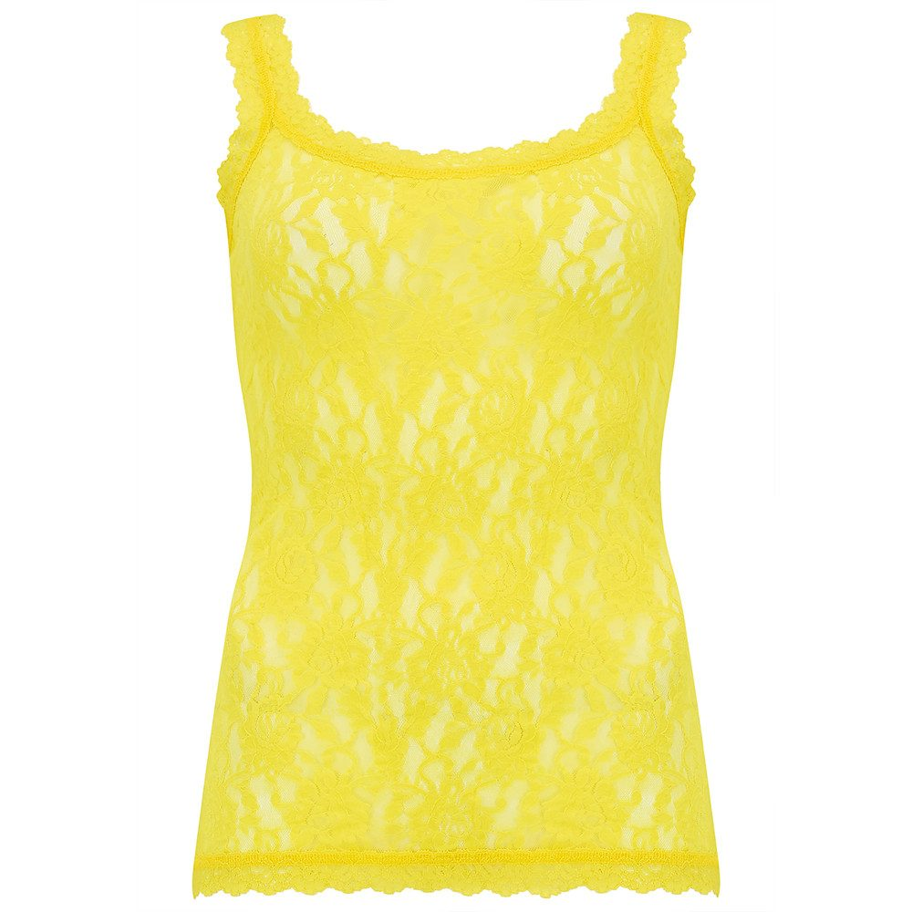 UNLINED LACE CAMI - Lemongrass