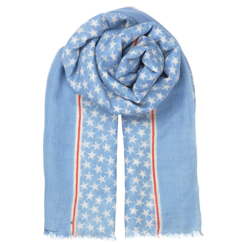 Etoiles Night Scarf - Lichen Blue