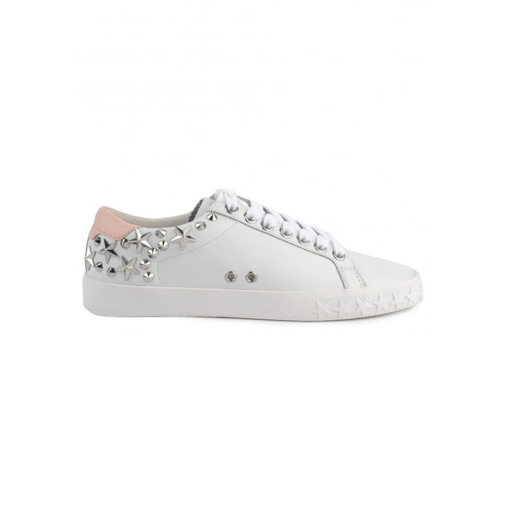 Dazed Studded Trainers - White & Powder