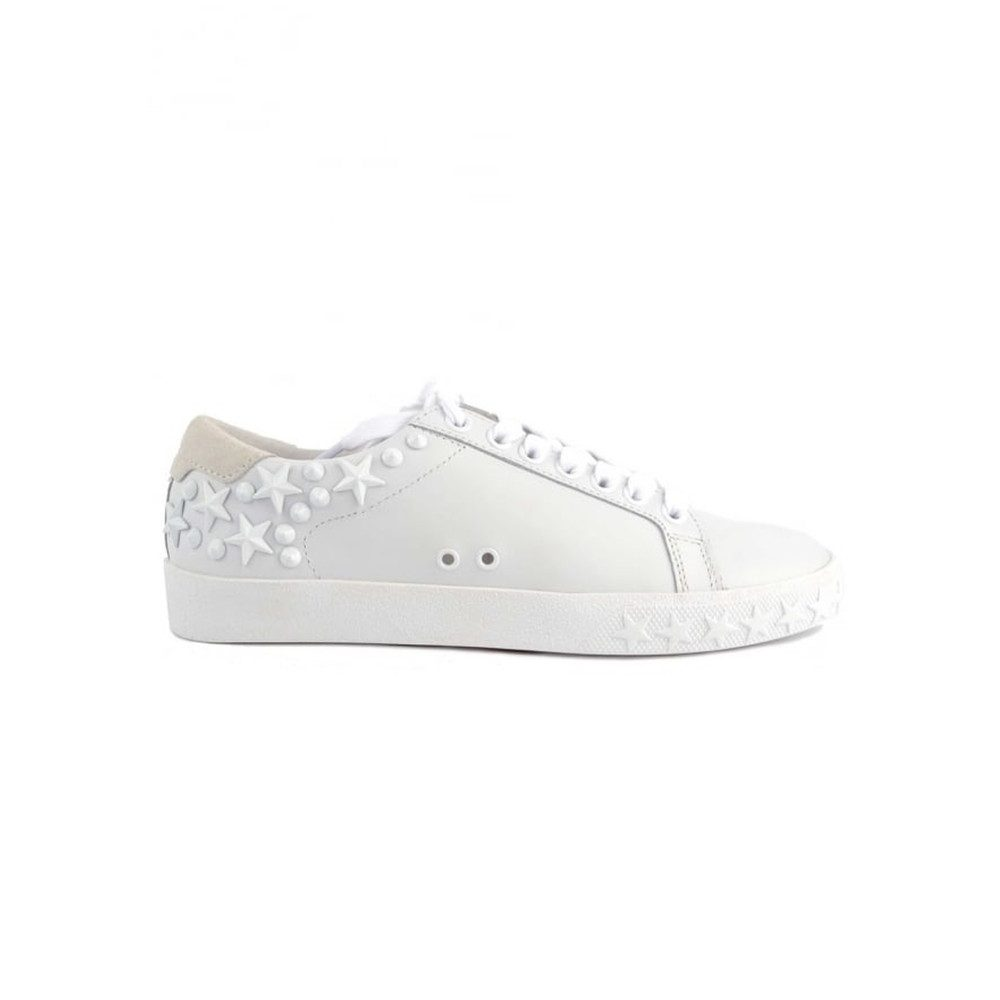 Dazed Studded Trainers - White & Snow White