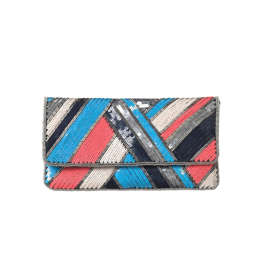 Dace Clutch Bag - Lichen Blue