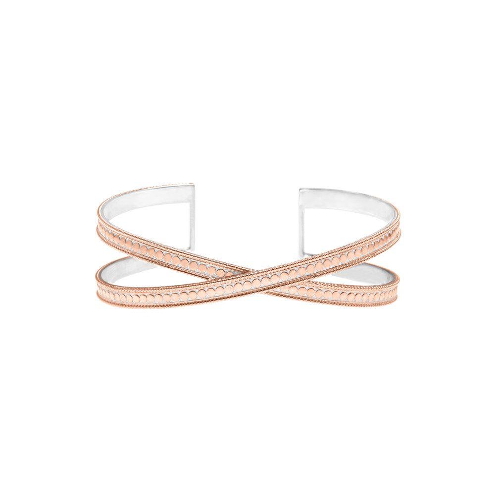 Single Cross Cuff - Rose Gold