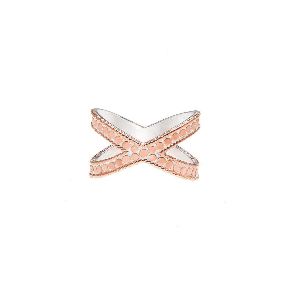 Cross Ring - Rose Gold