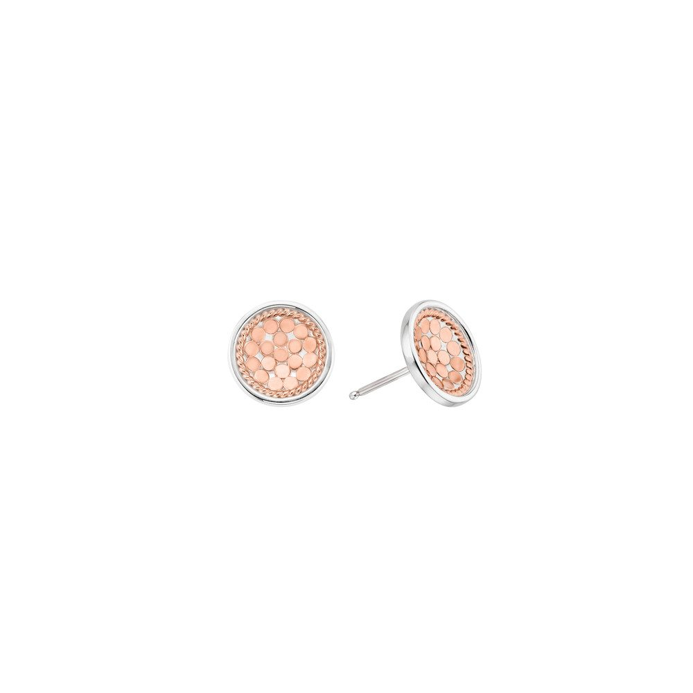 Dish Stud Earrings - Rose Gold