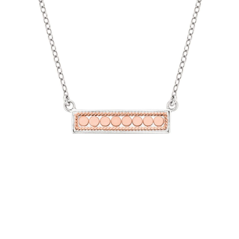 Reversible Bar Necklace - Rose Gold & Silver