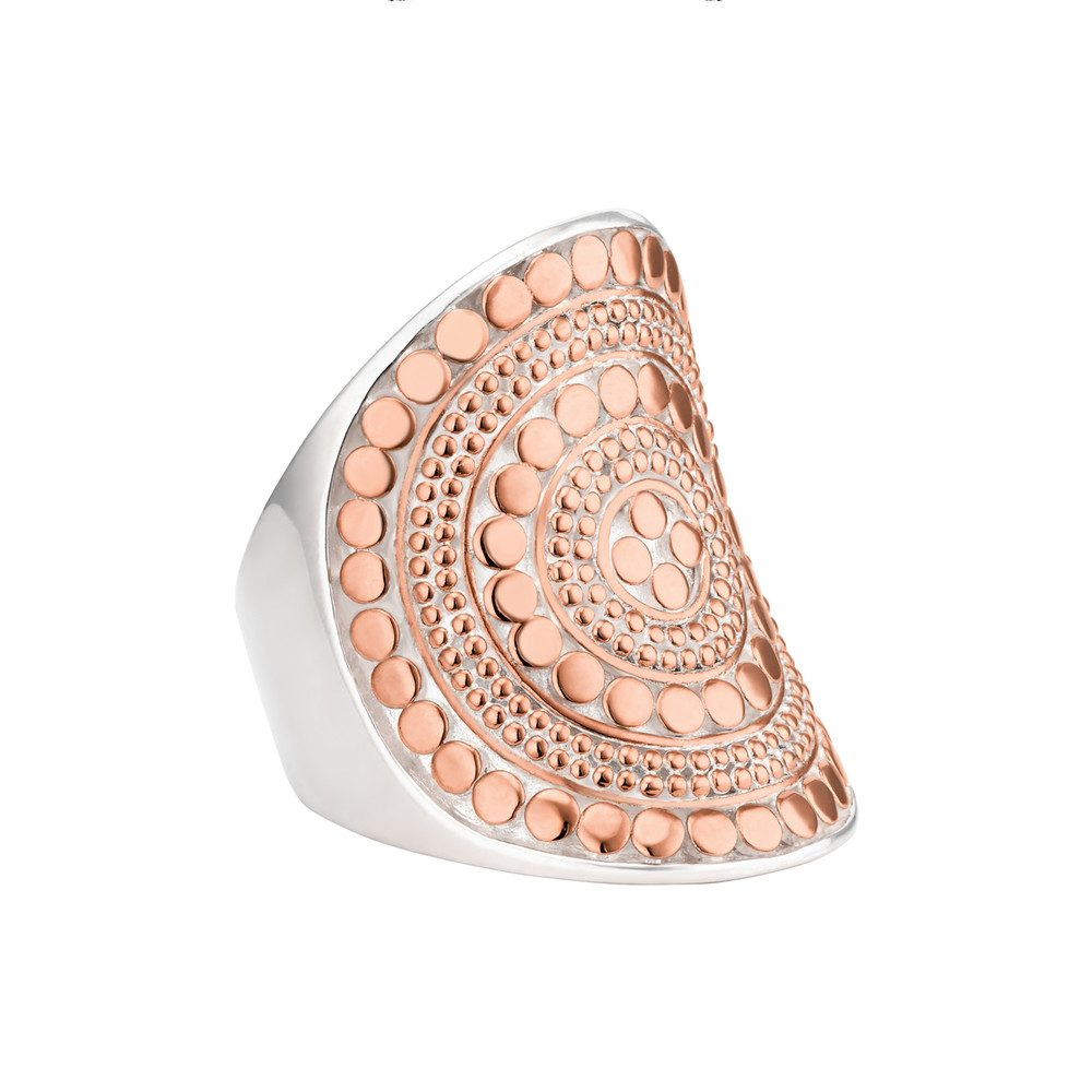 Beaded Saddle Ring - Rose Gold