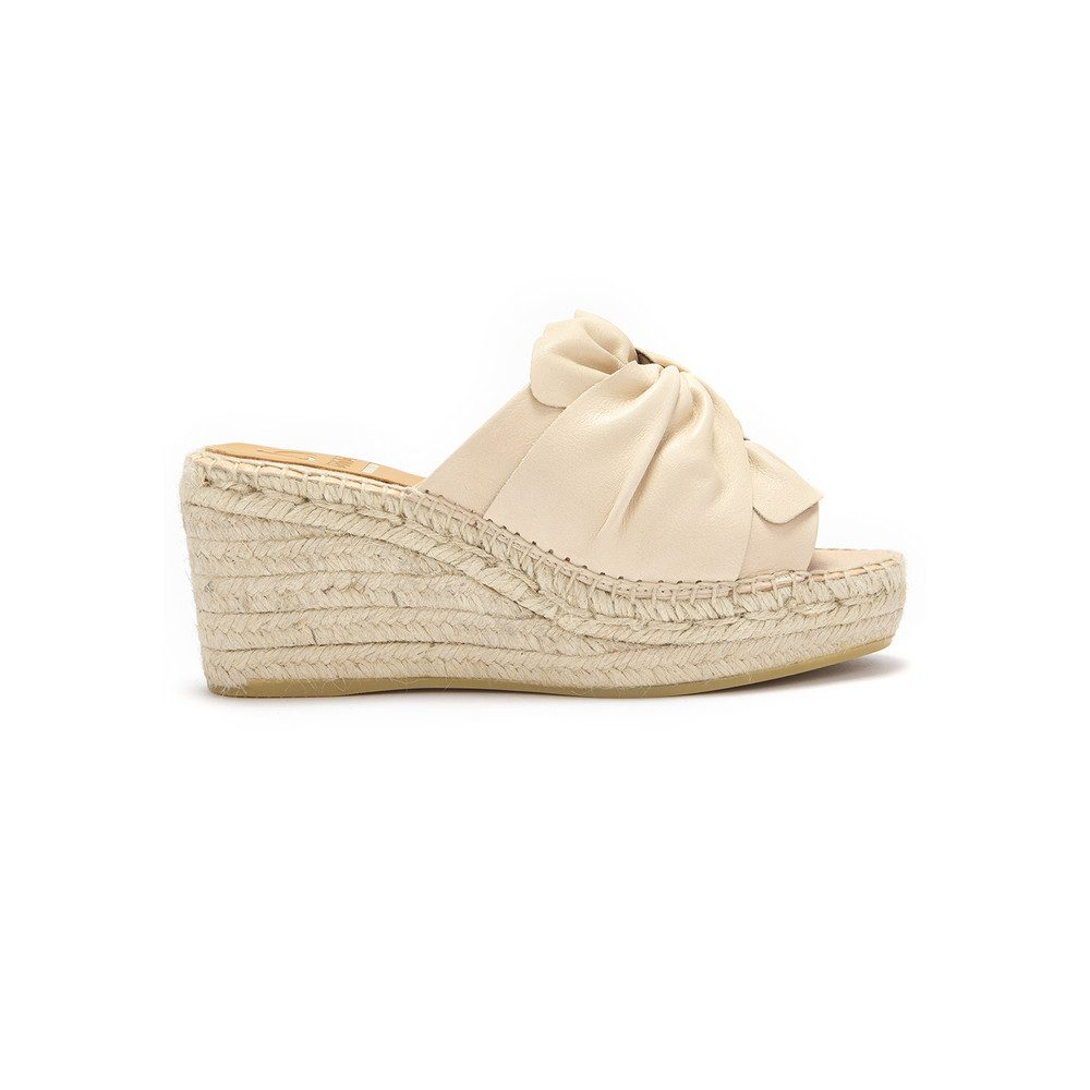 Capri Wedge - Beige
