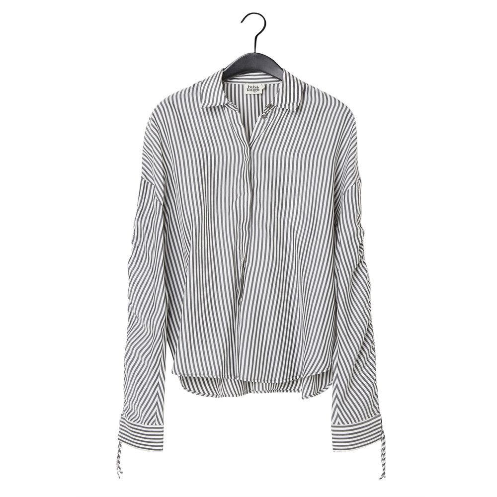 Sandy Striped Blouse - Grey & White