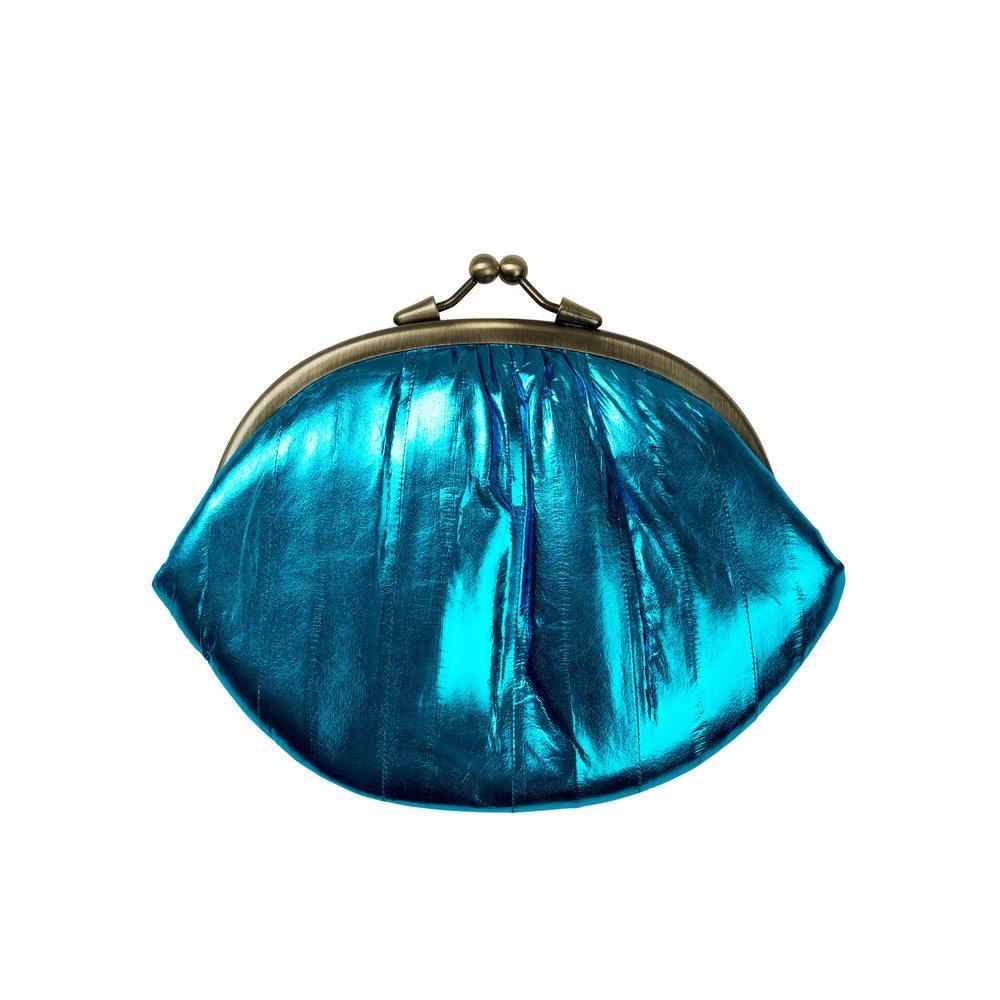 Granny Rainbow Metallic Purse - Blue Aster