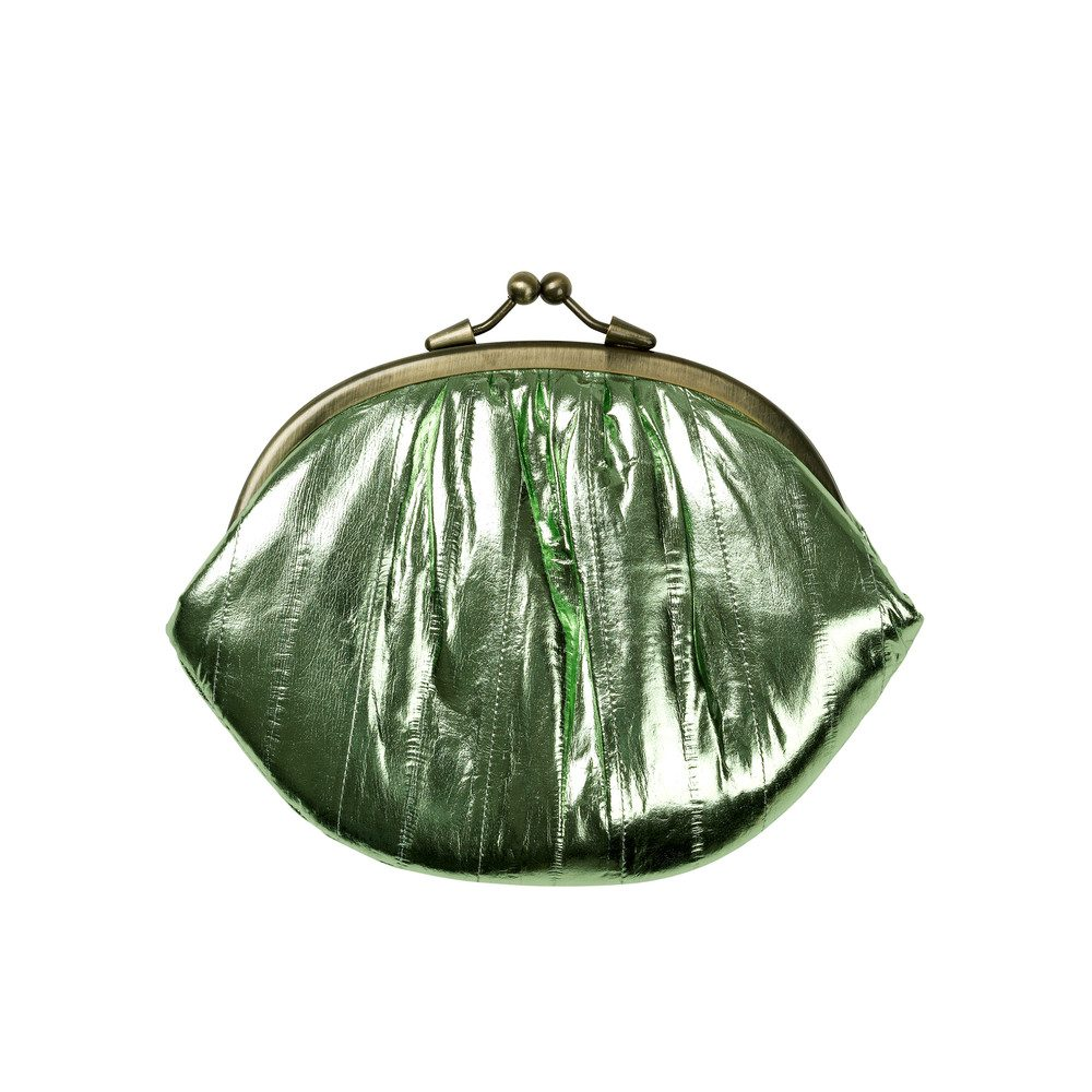 Granny Rainbow Metallic Purse - Swamp