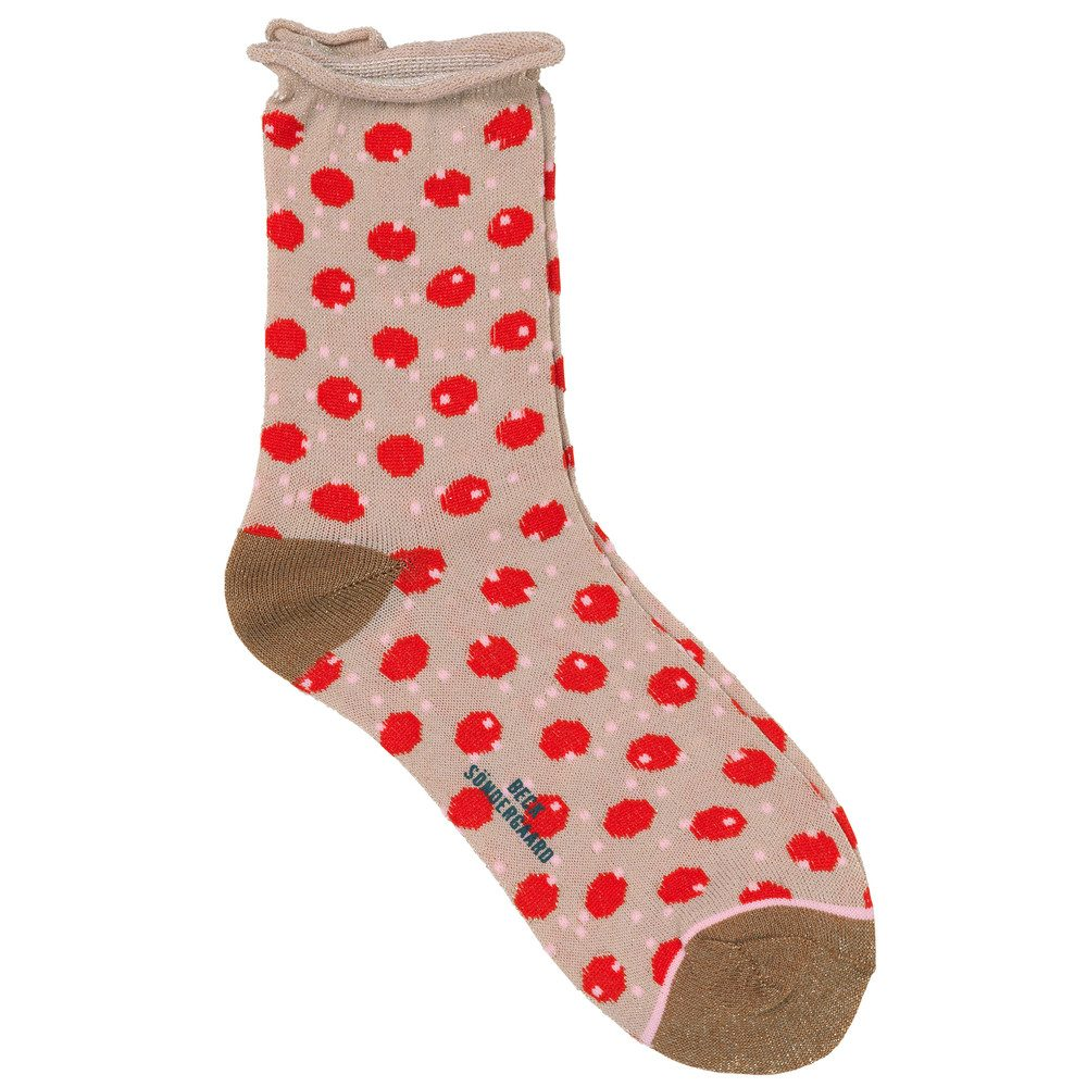 Dory Unruly Dot Socks - Hot Coral