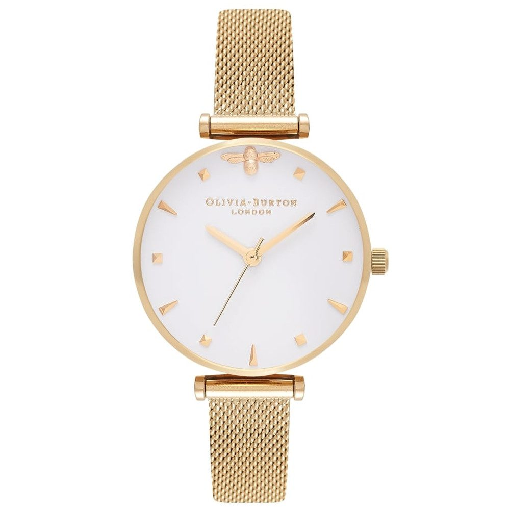 Queen Bee Mesh Watch - Gold