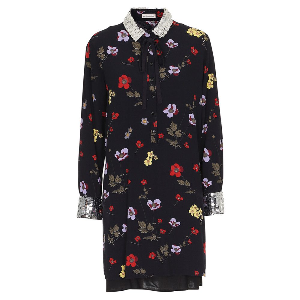 Hermione Sequin Dress - Anthracite Black
