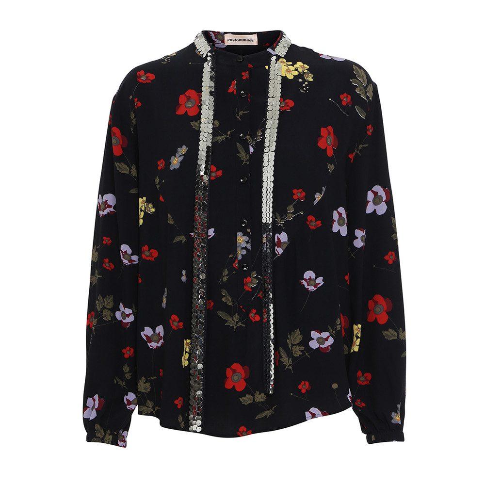 Hariet Sequin Shirt - Anthracite Black