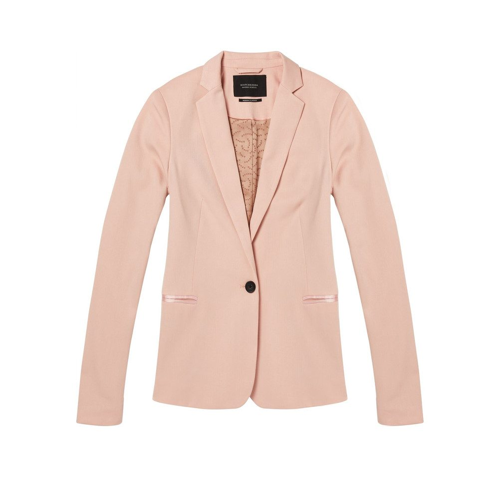 Zip Tailored Blazer - Blush